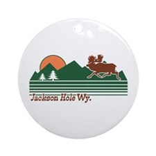 Jackson Hole Wyoming Ornament (Round)