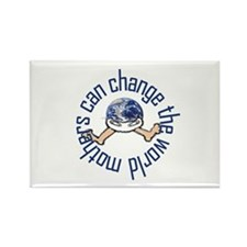 Mothers Change the World Rectangle Magnet