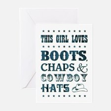 THIS GIRL LOVES... Greeting Cards