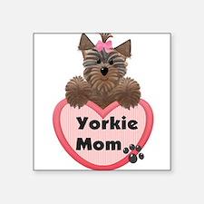"""Unique Yorkie Square Sticker 3"""" x 3"""""""
