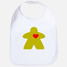 I Heart Gaming in yellow Bib