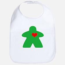 I Heart Gaming Green Bib