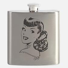 Vintage Girl Flask