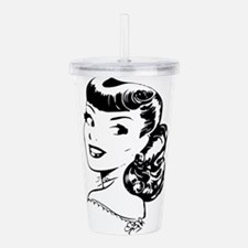 Vintage Girl Acrylic Double-wall Tumbler