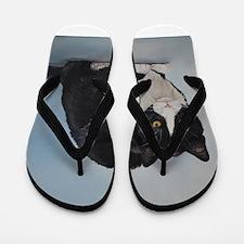 Unique Cat art Flip Flops