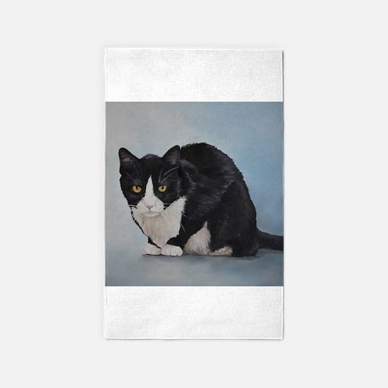 Unique Cat tuxedo Area Rug