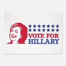 vote for hillary 5'x7'Area Rug