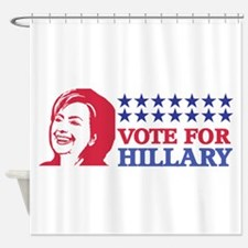 vote for hillary Shower Curtain