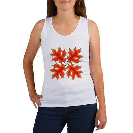 Red Oak Leaves Tank Top