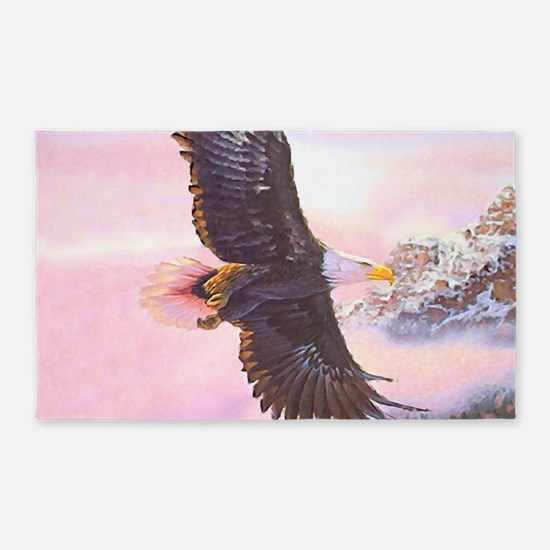 Eagles In Mist Area Rug