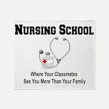 Cute Nursing school Throw Blanket