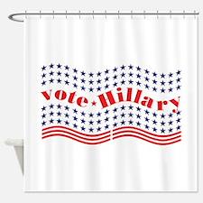 vote hillary Shower Curtain
