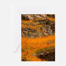 Flowing Flowers Greeting Cards