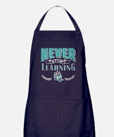 Never stop learning Apron (dark)
