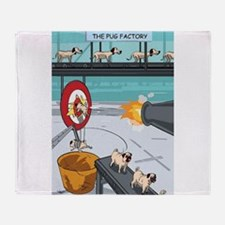 Pug Factory Throw Blanket