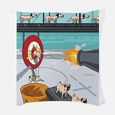 Pug Factory Woven Throw Pillow