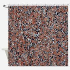 GRANITE RED-BLACK Shower Curtain