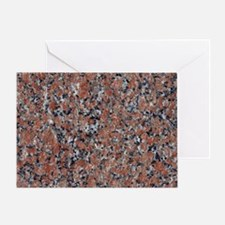 GRANITE RED-BLACK Greeting Card