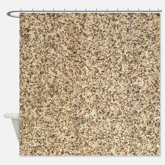 GRANITE BROWN 3 Shower Curtain