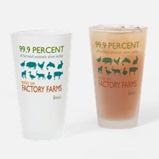 Unique Animal activist Drinking Glass