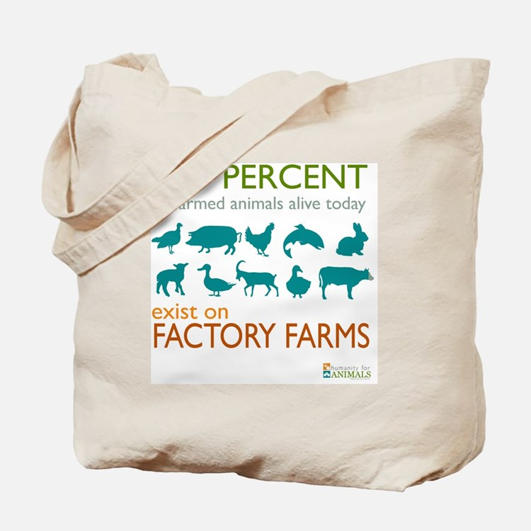 Cute Factory farm Tote Bag