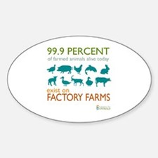 Funny Farms Sticker (Oval)