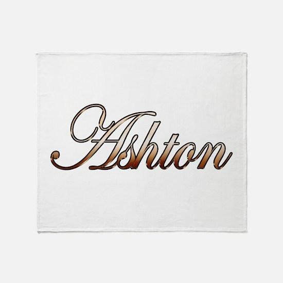 Gold Ashton Throw Blanket