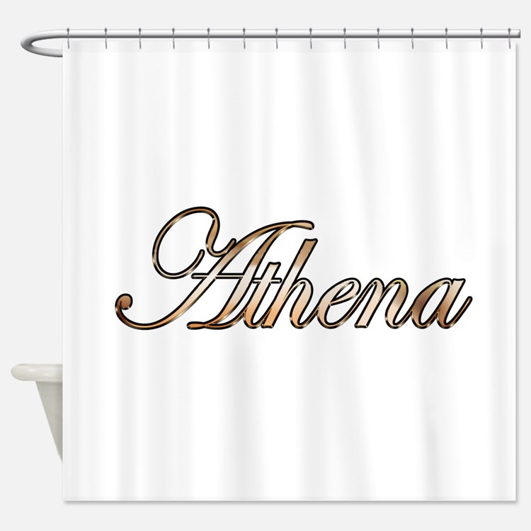 Gold Athena Shower Curtain