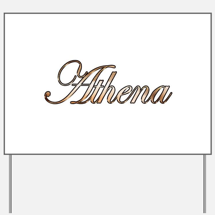 Gold Athena Yard Sign