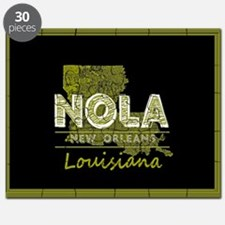 NOLA Black and Gold Double Frame Puzzle