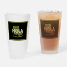 NOLA Black and Gold Double Frame Drinking Glass