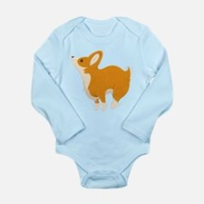 Cartoon Corgi Long Sleeve Infant Body Suit