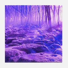 Purple tree Tile Coaster