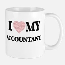 I love my Accountant (Heart Made from Words) Mugs