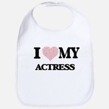 I love my Actress (Heart Made from Words) Bib