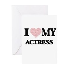 I love my Actress (Heart Made from Greeting Cards