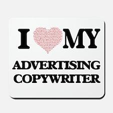 I love my Advertising Copywriter (Heart Mousepad