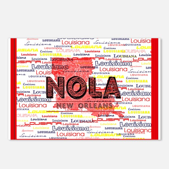 NOLA RED Louisiana Postcards (Package of 8)