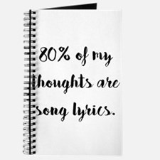 80% of My Thoughts Are Song Lyrics Journal