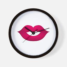 Animated Lips Wall Clock