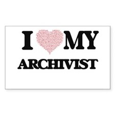 I love my Archivist (Heart Made from Words Decal