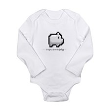 Funny Animal pig Long Sleeve Infant Bodysuit
