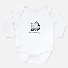 Unique Squares Long Sleeve Infant Bodysuit