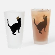 Cat Crown Drinking Glass