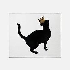 Cat Crown Throw Blanket