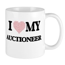 I love my Auctioneer (Heart Made from Words) Mugs