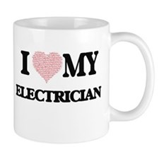 I love my Electrician (Heart Made from Words) Mugs