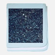 GRANITE BLUE-BLACK 1 baby blanket