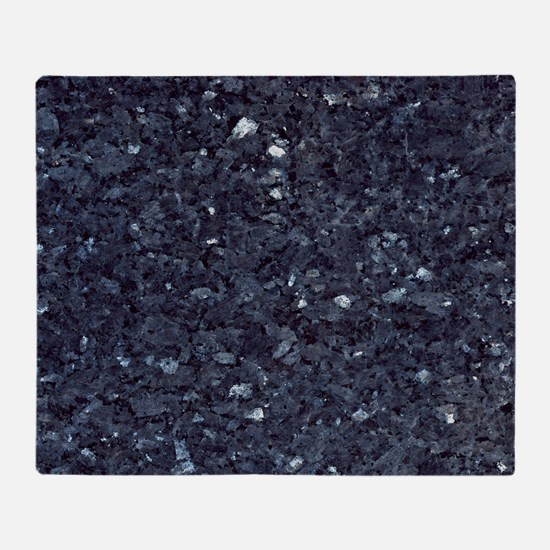 GRANITE BLUE-BLACK 1 Throw Blanket