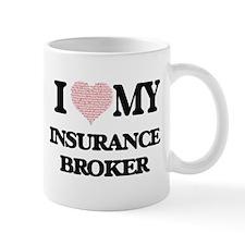 I love my Insurance Broker (Heart Made from W Mugs